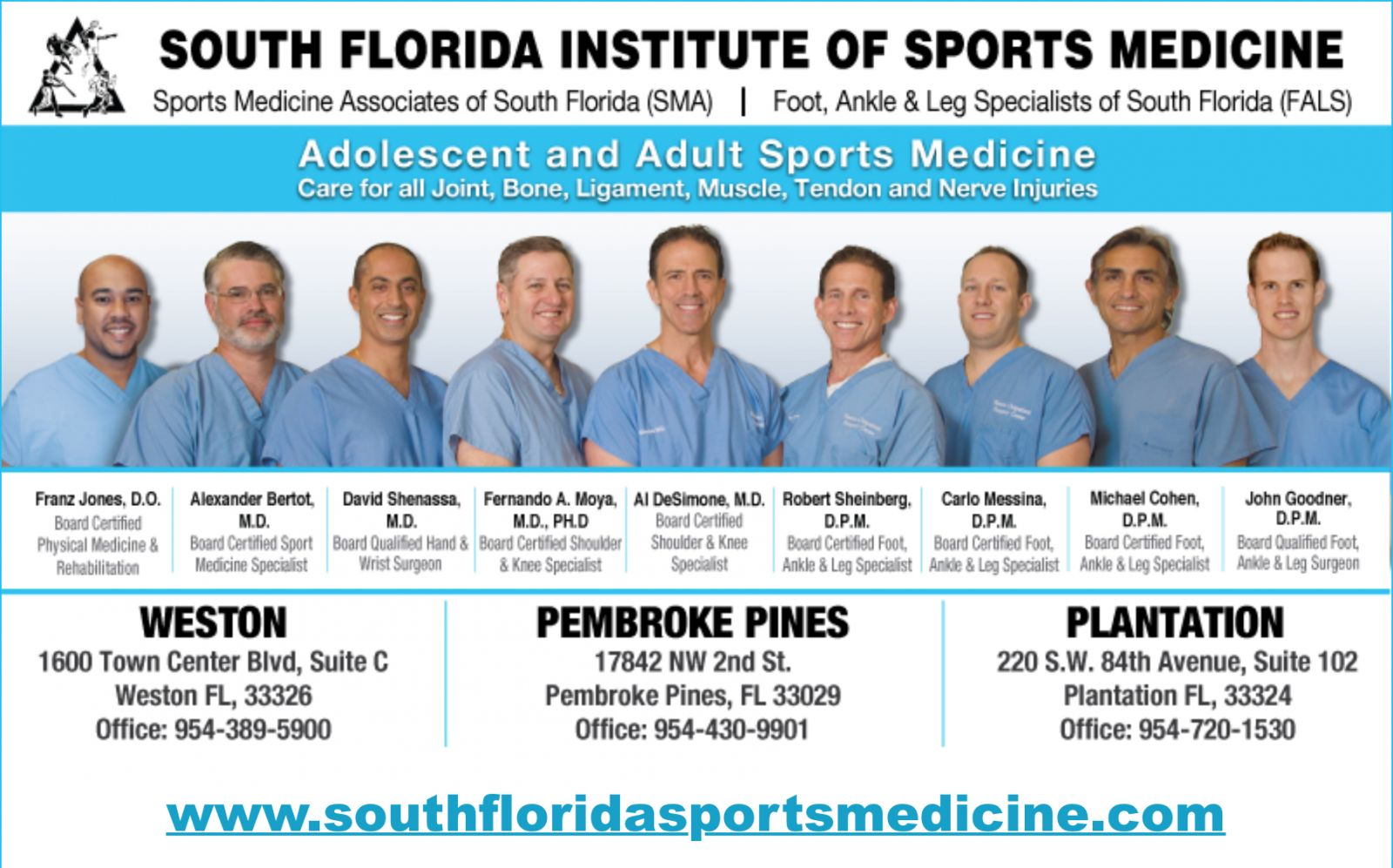 South Florida Institute of Sports Medicine - Podiatry, Orthopedics, & Physical Therapy